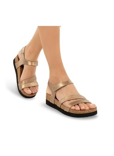 Muya Rian Anatomik Kadın Sandalet Altın